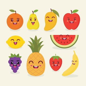 Cute fruit vector