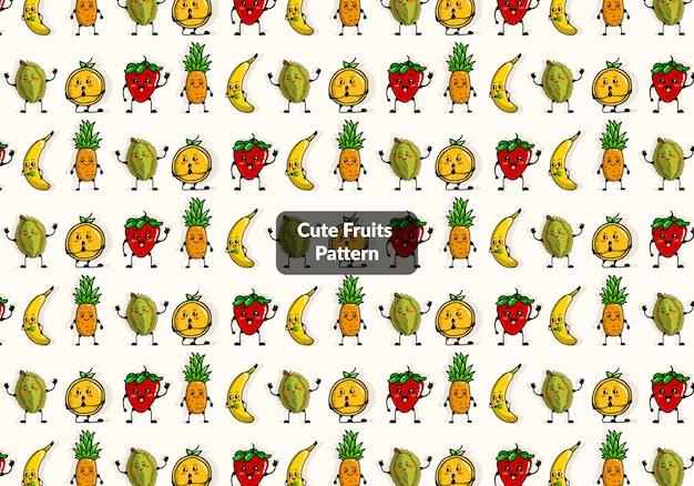 かわいいフルーツパターン