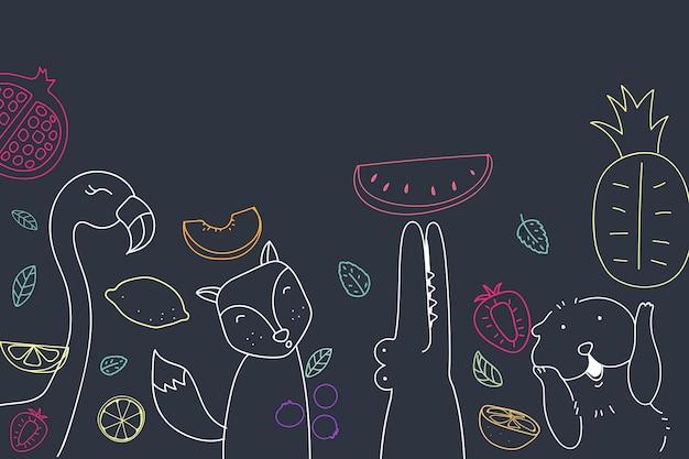 귀여운 과일 배경