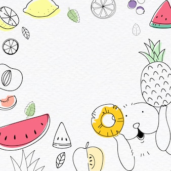 Cute fruity background