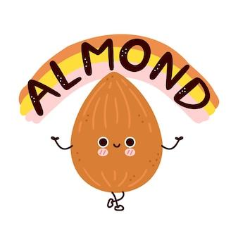 かわいい面白いアーモンドナッツ