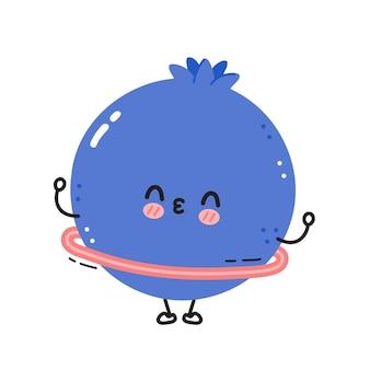かわいい面白いブルーベリー ベリー フラフープでジムを作る