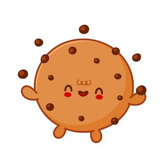 귀여운 재미 쿠키 저글 초콜릿 칩