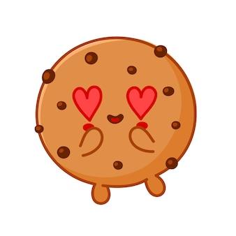 초콜릿 칩과 함께 귀여운 재미있는 쿠키