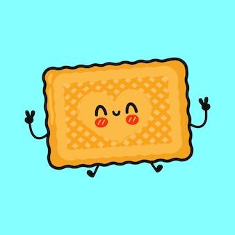 かわいい面白いクッキーのキャラクター