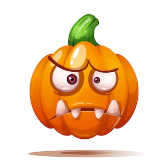 Cute, funny, crazy pumpkin characters. halloween illustration