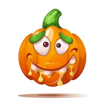 Cute, funny, crazy pumpkin characters
