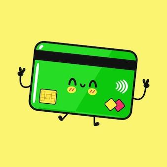 Милый забавный персонаж кредитной карты