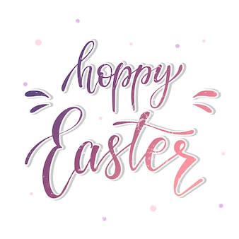 Cute and funny easter quote 'hoppy easter'