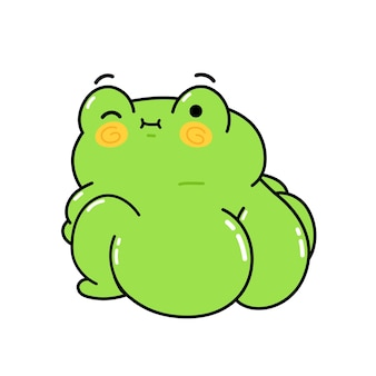 Cute funny frog with big buttock