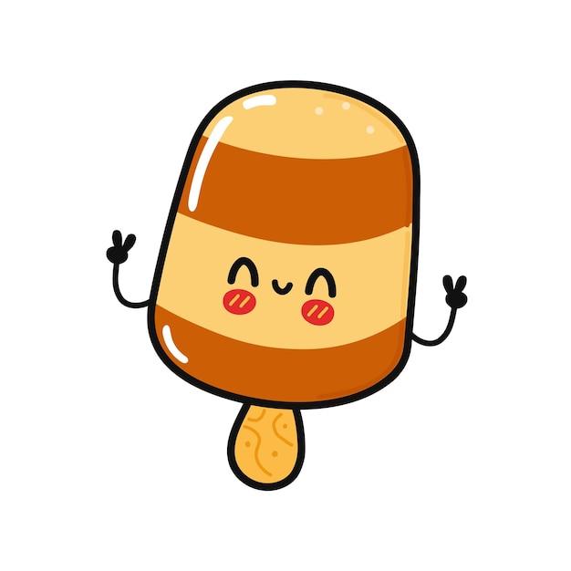 かわいい面白いアイスクリームのキャラクター