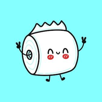 귀여운 재미 점프 화장지 캐릭터