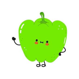 Cute funny pepper character