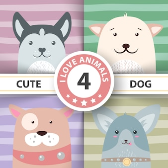 Cute, funny, pretty dog characters