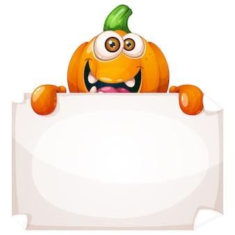 Cute funny pumpkin characters.