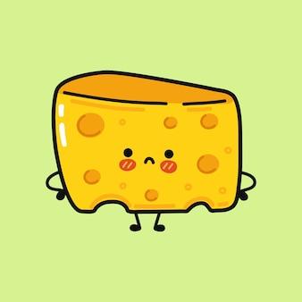 ポスターとかわいい面白い悲しいチーズ