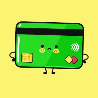 Милая забавная грустная кредитная карта