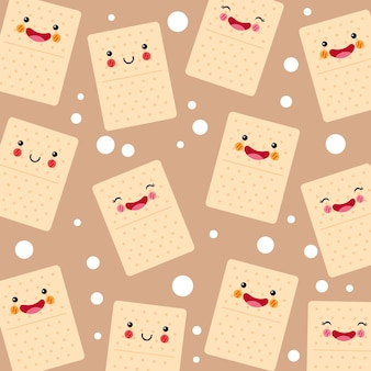 Cute and funny soda cookies smiling pattern