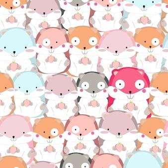 Cute funny squirrel pattern