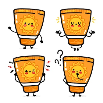 Cute funny suncreen tube set collection