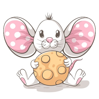 Cute, funny, tedy mouse cartoon characters.