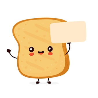Cute funny toast with empty sign