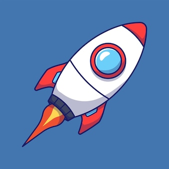 Cute futuristic rocket