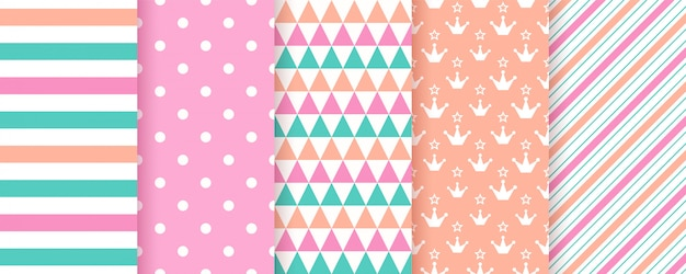 Cute geometric seamless pattern