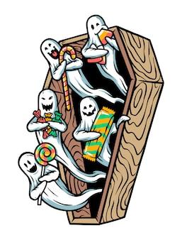 Милый призрак с конфетами