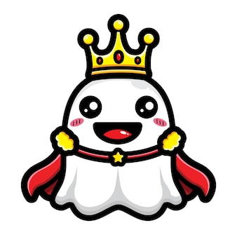귀여운 유령 왕 캐릭터 디자인