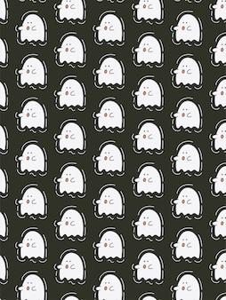 Cute ghost seamless pattern