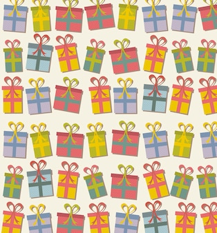Cute gifts over beige background vector illustration