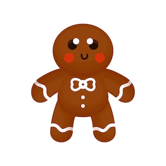 Cute ginger bread with happy face
