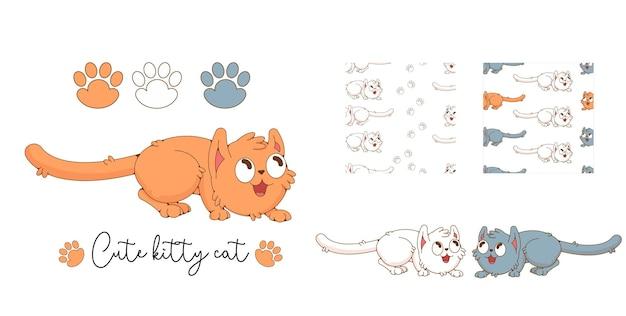 Симпатичная рыжая кошка иллюстрация