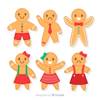 Cute gingerbread cookies collection