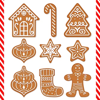 Cute gingerbread cookies decorations