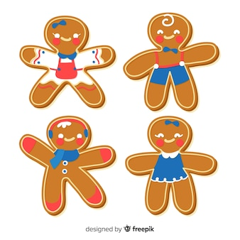 Cute gingerbread cookies pack