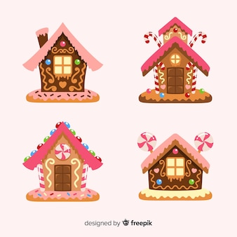 Cute gingerbread house collection