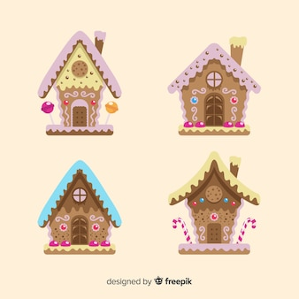 Cute gingerbread house pack