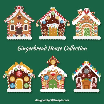 Cute gingerbread house set