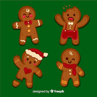 Cute gingerbread man collection