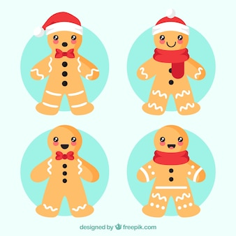 Cute gingerman cookie collection