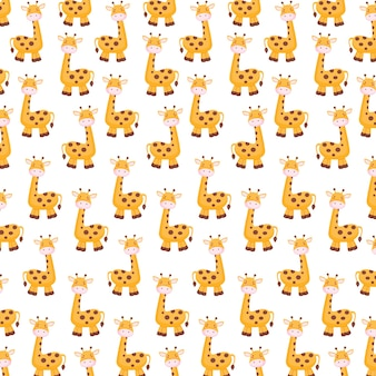 Cute giraffe background for world animal day poster or flyer