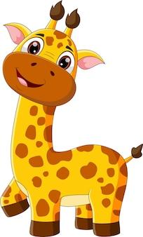 Мультфильм милый жираф