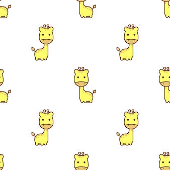 Cute giraffe seamless pattern