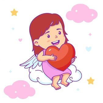 Cute girl baby angel