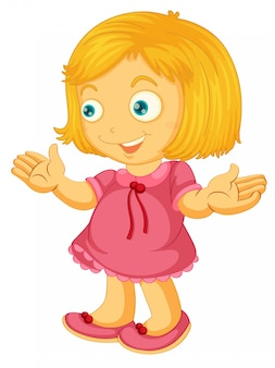 A cute girl character