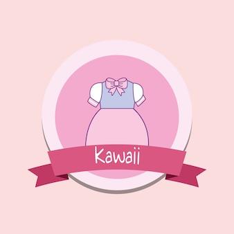 Милая девушка одежда kawaii стиль с лентой