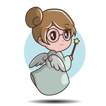 Cute girl in fairy costume