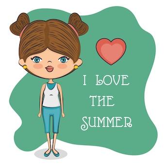 Симпатичная девушка любит лето